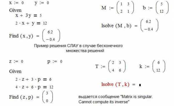 решение квадратного уравнения в маткаде - 4